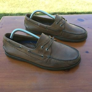 Sperry Top Sider Brown Slip Ons